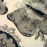 Delicate papercut art by Parth Kothekar