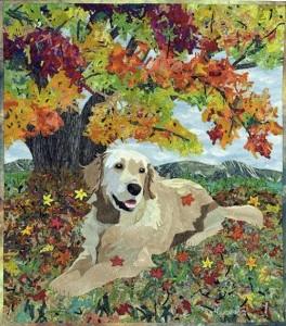 Quilt by Japanese artst of applied art Hiroko Miyama