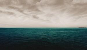 Dark Sea and gloomy sky