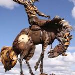 Scrap metal sculptures by John Lopez