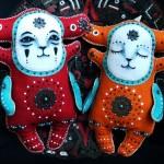 A couple of Krakazyabra toys by Kharkov based artist Maryana Kopylova