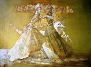 Unicorn. Painting by Alexander Dolgikh