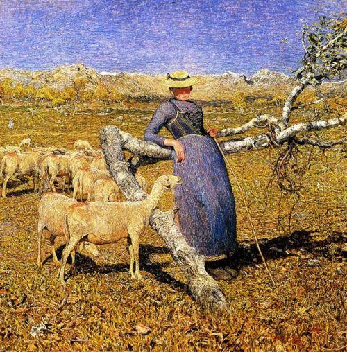 Painting By Italian Artist Giovanni Segantini 1 Art