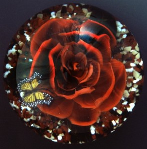 Murrine Glass painting by Loren Stump