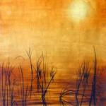 Gold Leaf painting by Gabriel Burchman