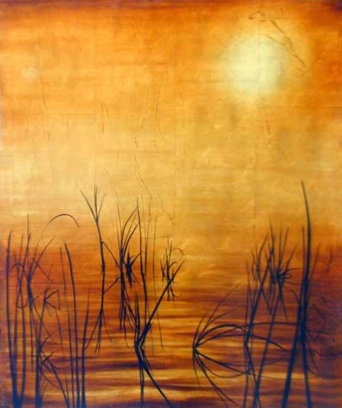 gold leaf painting by gabriel burchman art kaleidoscope