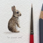 Miniature watercolor painting by Lorraine Loots