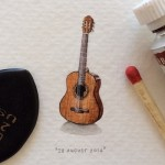 "365 Postcards for Ants"". Miniature watercolor painting by Cape Town based artist Lorraine Loots"
