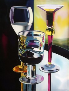 Still life Silk painting by Natasha Foucault