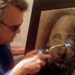 American artist David Palmer at work