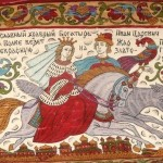 Detail. Ivan Tsarevich on the Grey Wolf and Helen