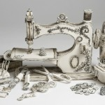 Sewing machine, still life. Ceramic sculpture by Katharine Morling