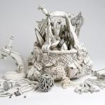 Ceramic sculpture by Katharine Morling
