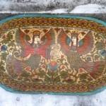 Traditional Russian wood painting by Albina Ustyugova