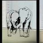 Silhouette paper cut art