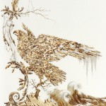 Gold Drawing by Sarah A. Smith