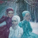 Winter painting by Natalia Syuzeva