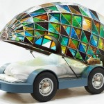 Kaleidoscopic Stained Glass Car