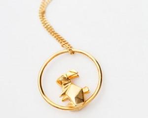 Origami animals jewelry