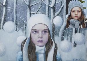 Winter painting by Natalia Syuzeva