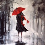 Painting rain Helen Cottle, Australian self-taught artist