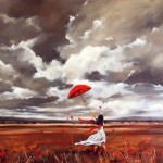 Wind before the rain. Painting by Australian artist Helen Cottle