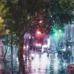 After the rain. Watercolor painting by Chinese artist Ching-Che Lin