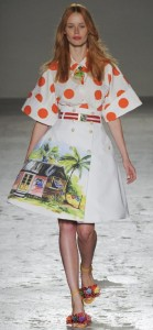 Palms and huts. Stella Jean summer 2015 African collection