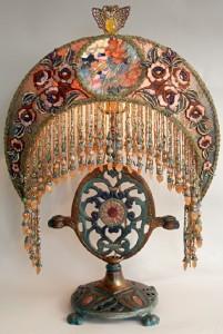 Vintage lamp art by Christine Kilger