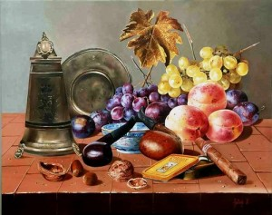 Hyperrealistic painting by Ferenc Tulok