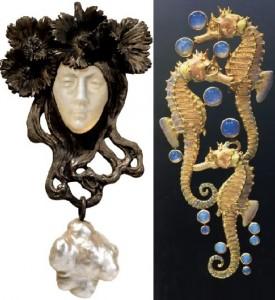 Art Nouveau style jewelry