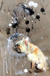 watercolor painting by Russian artist Lora Zombie
