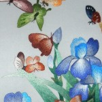 . Silk hand embroidery on silk