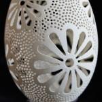 Carved goose eggs by Piotr Bockenheim