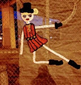 Crochet street art by London Kaye