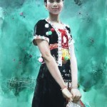 Chinese watercolorist Guan Weixing