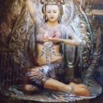 Beautiful virgin goddess Artemis in art