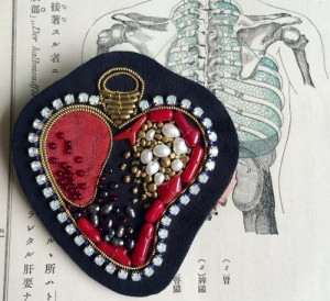 Heart brooch