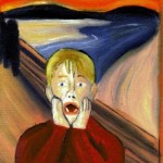 """Home Alone"" – Oil Painting – Parody of Edvard Munch's ""The Scream"""