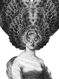 Eyes. Ink drawing by English artist Dan Hillier