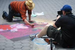 Sand artist Joe Mangrum