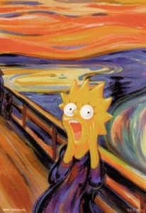 Liza Simpson in Edvard Munch's Scream