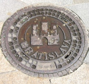Bratislava, Slovakia Manhole cover art