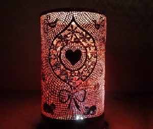 Metal barrel handcut art by French craftsmen and artists Anne and Philippe Guilbaud