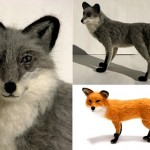 Miniature felted animals by Kiyoshi Mino
