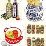 Embroideried illustration by Japanese artist Miyuki Sakai
