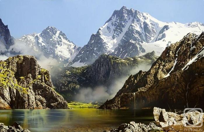 Mountain landscape. 2017. Oil on canvas