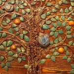 Detail. Panno Orange, from the series of Tree of Life. Keramo Mano ceramic art studio