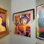 Exhibition of paintings by Sylvester Stallone