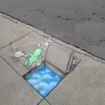 David Zinn's street art